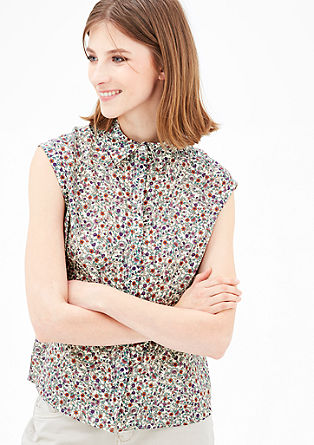Patterned cotton blouse from s.Oliver