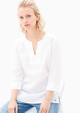 Wide linen blouse from s.Oliver