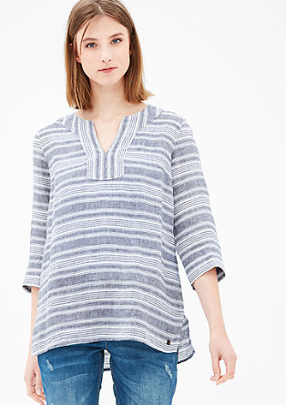 Striped linen tunic from s.Oliver