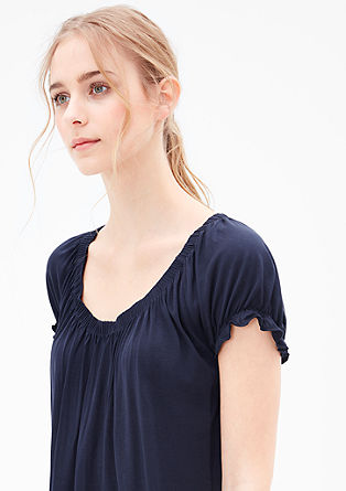 T-shirt with frilled sleeves from s.Oliver