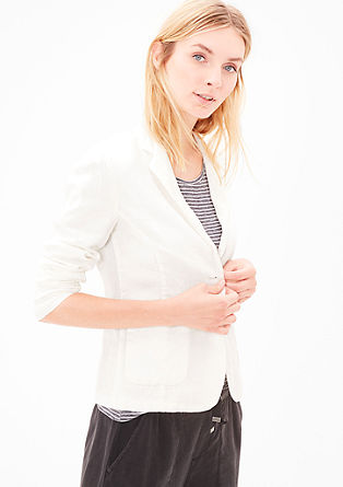 Casual linen blazer from s.Oliver