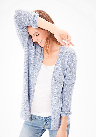 Textured knit, linen cardigan from s.Oliver