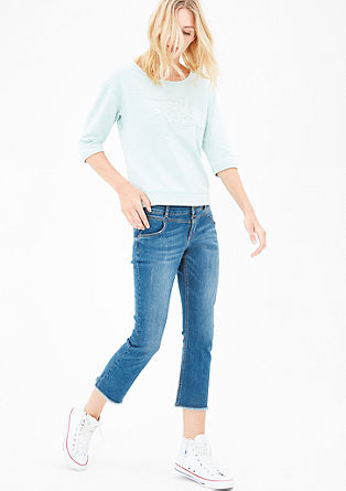 Kick Flare: Frayed stretch jeans from s.Oliver