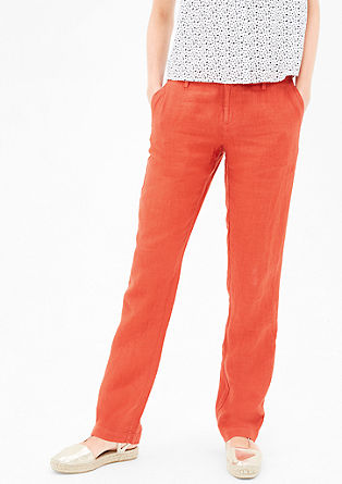 Smart Straight: Loose linen chinos from s.Oliver