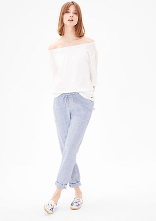 Patterned linen trousers from s.Oliver