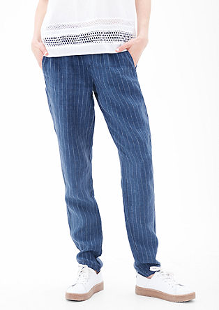 Smart Chino: Light & airy linen trousers from s.Oliver