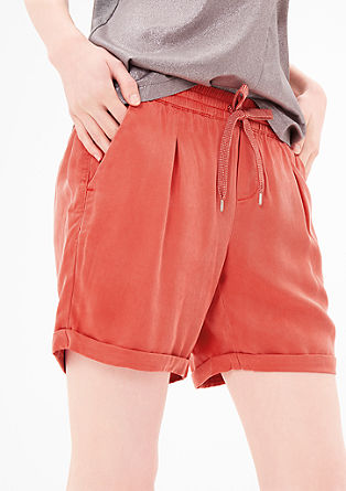 Smart Short: Samtige Chino-Shorts