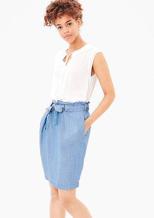 Lightweight skirt in lyocell denim from s.Oliver