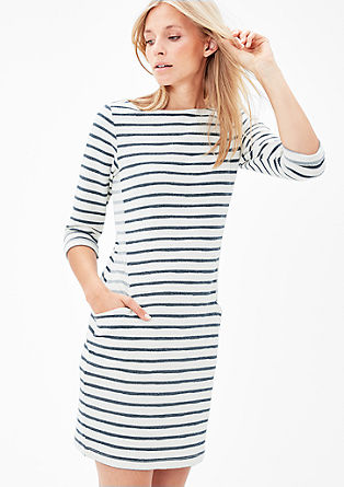 Striped sweat dress from s.Oliver