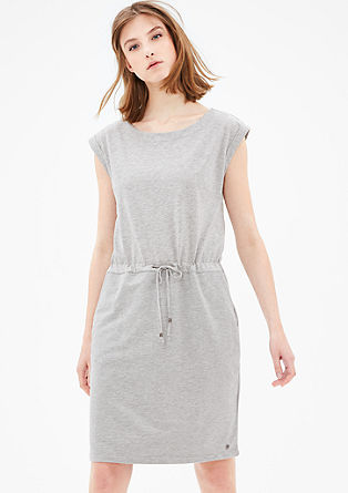 Sweatshirt dress with decorative ties from s.Oliver