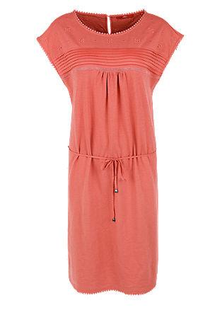Slub yarn jersey dress with pintucks from s.Oliver