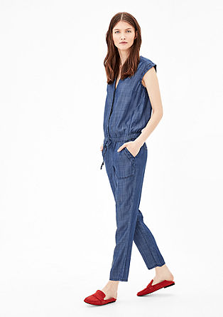Denim jumpsuit van lyocell