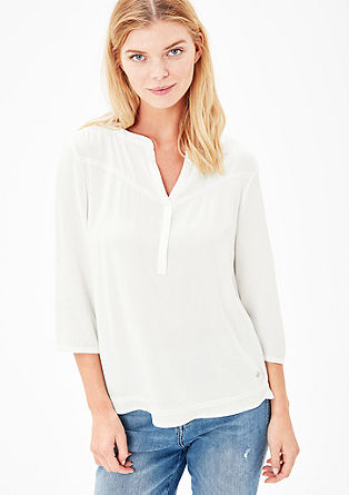 Blouse top with textured pattern from s.Oliver