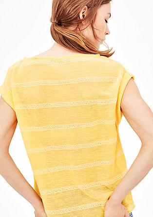 T-Shirt in Feinstrick-Optik