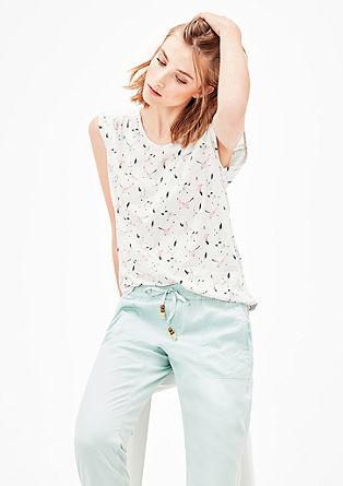 Printshirt mit Blusen-Detail