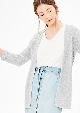 Linen cardigan with 3/4-length sleeves from s.Oliver