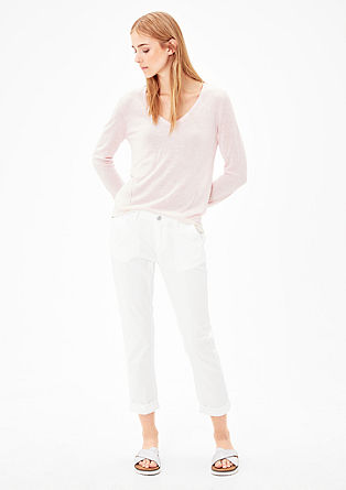 Shape Ankle: twill trousers from s.Oliver