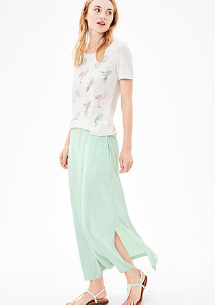 Melange jersey maxi skirt from s.Oliver