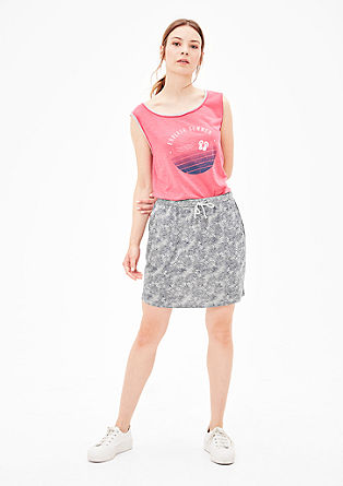 Jersey skirt with printed pattern from s.Oliver