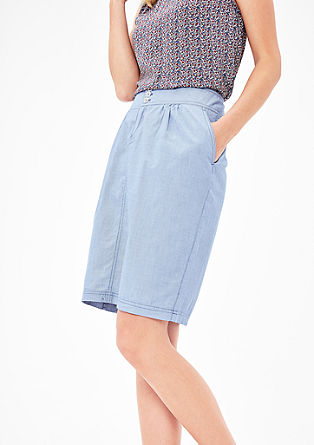 Cotton skirt with woven texture from s.Oliver
