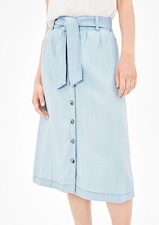 Button-fastening summer denim skirt from s.Oliver
