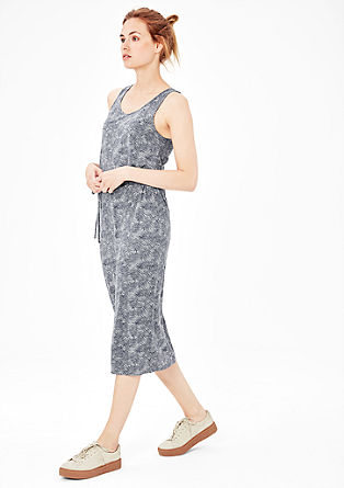 Robe maxi longueur à motif all-over de s.Oliver