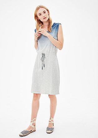 Jerseykleid in Dip Dye-Optik