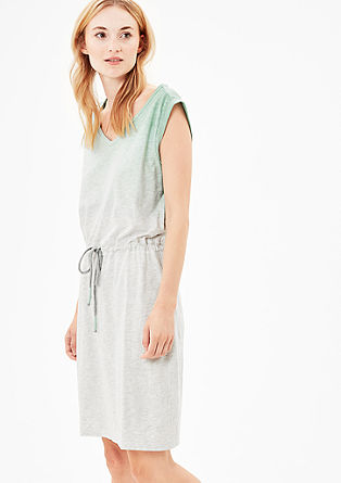 Jersey dress with a dip-dye effect from s.Oliver