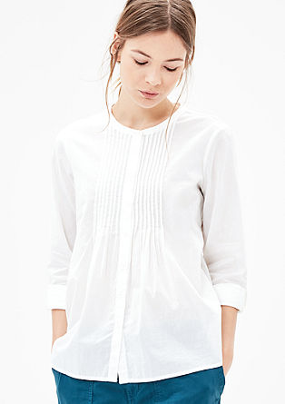 Pintuck blouse with a striped texture from s.Oliver