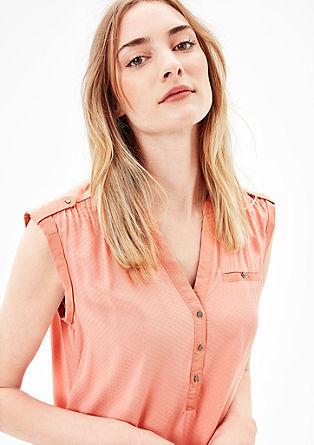 Bluza brez rokavov s strukturnim vzorcem