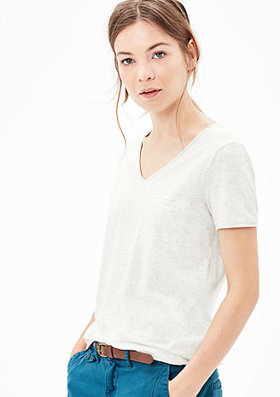 Mottled jersey T-shirt from s.Oliver