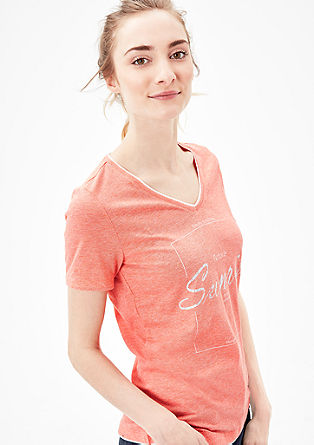 Statement-Shirt in Melange