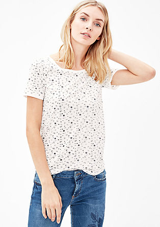 Lightweight T-shirt with an all-over print from s.Oliver