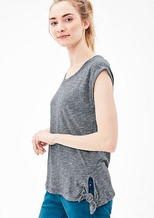 Tričko s dlouhým rukávem sdetailem uzlu