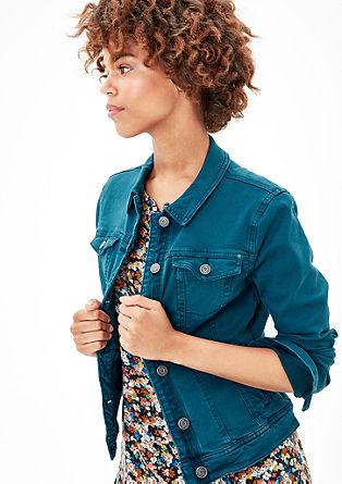 Stretchige Colored Denim-Jacke