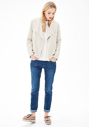 Lightweight blazer jacket with a washed finish from s.Oliver