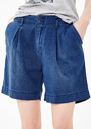 Smart Short: Textured denim shorts from s.Oliver