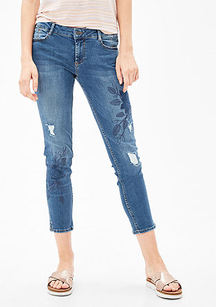 Shape ankle: jeans met artworks