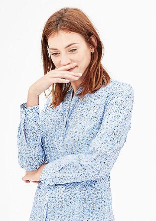 Katoenen blouse met ruches