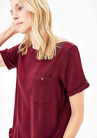 Bluse aus feinem Jacquard