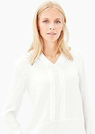 Lightweight pintuck viscose blouse from s.Oliver