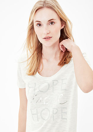 Stretch-Shirt mit Metallic-Print