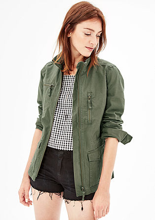 Twill-Jacke mit großen Taschen