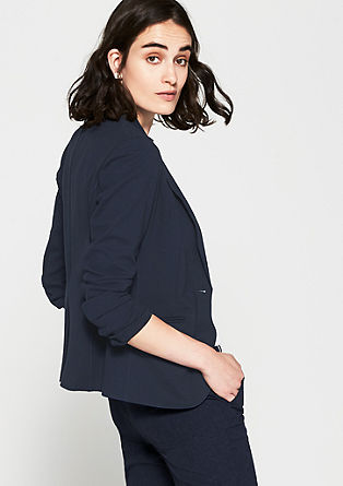 Blazer with trendy hem edges from s.Oliver