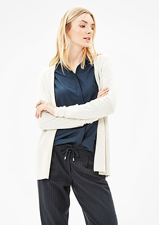 Cardigan with a wide ribbed hem from s.Oliver