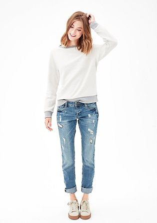 Shape slim: Jeans in destroyed look
