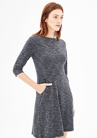 Fitted dress with 3/4-length sleeves from s.Oliver