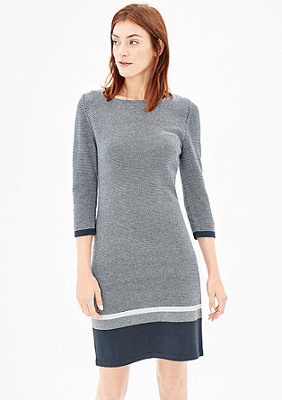 Knit dress with 3/4-length sleeves from s.Oliver