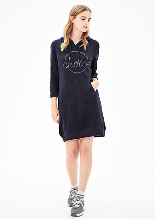 Sweatshirt dress with sequins  from s.Oliver
