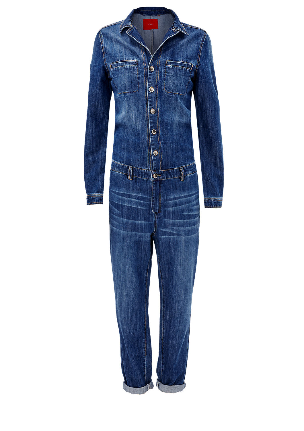 buy casual denim jumpsuit s oliver shop. Black Bedroom Furniture Sets. Home Design Ideas